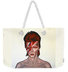 David Bowie Aladdin Sane Weekender Tote Bag by Paul Meijering