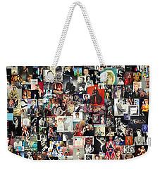 David Bowie Collage Weekender Tote Bag