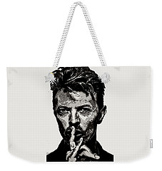 David Bowie - Pencil Weekender Tote Bag by Doc Braham