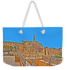 Weekender Tote Bag featuring the photograph Davids Citadel - Israel by Doc Braham