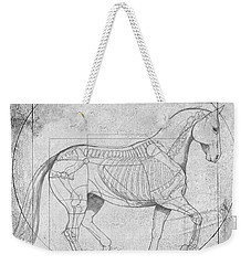 Da Vinci Horse Piaffe Grayscale Weekender Tote Bag by Catherine Twomey