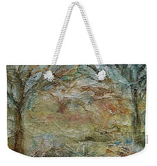 Weekender Tote Bag featuring the painting Dawn 2 by Mary Wolf