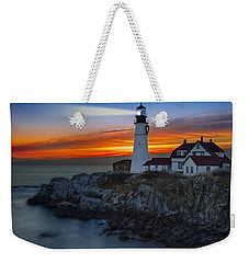 Dawn At Portalnd Head Light Weekender Tote Bag
