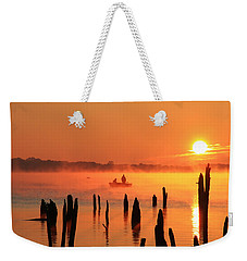 Dawn Fishing Weekender Tote Bag