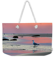 Weekender Tote Bag featuring the photograph Dawn In Pink by Dianne Cowen