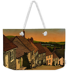 Weekender Tote Bag featuring the drawing Daybreak by Meg Shearer