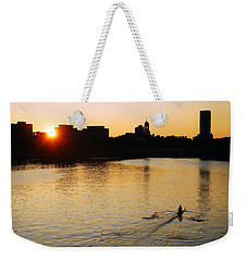 Weekender Tote Bag featuring the photograph Dawn On The Charles by James Kirkikis