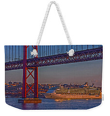Weekender Tote Bag featuring the photograph Dawn On The Harbor by Hanny Heim