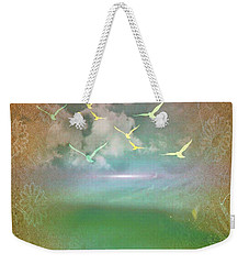 Day At The Beach Abstract Weekender Tote Bag
