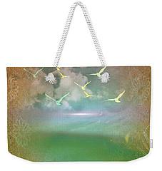Day At The Beach Abstract Weekender Tote Bag by Judy Palkimas