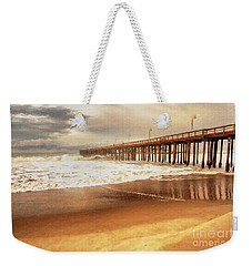 Day At The Pier Large Canvas Art, Canvas Print, Large Art, Large Wall Decor, Home Decor, Photograph Weekender Tote Bag by David Millenheft