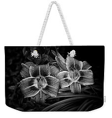 Weekender Tote Bag featuring the photograph Day Lilies Number 4 by Ben Shields
