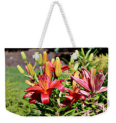 Day Lillies In The Garden Weekender Tote Bag