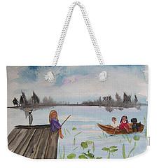 Day Of Fishing Weekender Tote Bag