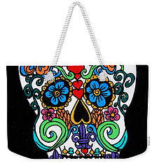 Day Of The Dead Skull Weekender Tote Bag by Genevieve Esson