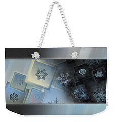 Snowflake Collage - Daybreak Weekender Tote Bag by Alexey Kljatov