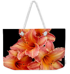 Weekender Tote Bag featuring the photograph Daylilies 2 by Rose Santuci-Sofranko