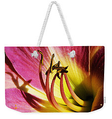 Daylilly Dusted With Pollen Weekender Tote Bag by Jennifer Muller