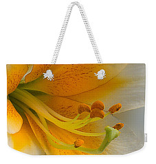 Gold Daylily Close-up Weekender Tote Bag