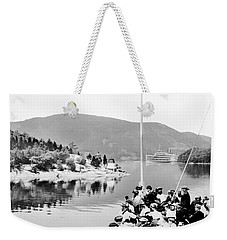 Dayliner At The Narrows In Black And White Weekender Tote Bag