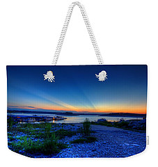 Weekender Tote Bag featuring the photograph Days End by Dave Files