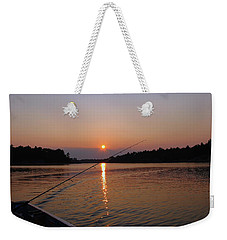 Weekender Tote Bag featuring the photograph Sunset Fishing by Debbie Oppermann