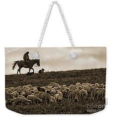 Days End Sheep Herding Weekender Tote Bag