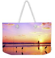 Daytona Beach Fl Surf Fishing And Birds Weekender Tote Bag