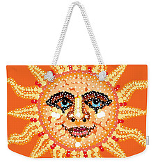 Weekender Tote Bag featuring the digital art Dazzling Sun by R  Allen Swezey