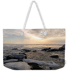Dazzling Winter On Lake Superior Weekender Tote Bag by James Peterson