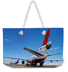 Weekender Tote Bag featuring the photograph Dc-10 Air Tanker  by Bill Gabbert