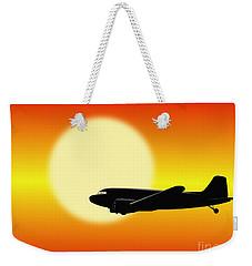 Dc-3 Passing Sun Weekender Tote Bag