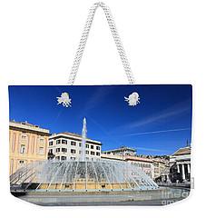 De Ferrari Square - Genova Weekender Tote Bag