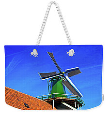 Weekender Tote Bag featuring the photograph De Huisman Spice Mill by Jonah  Anderson