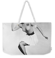 Debbie Reynolds Throws A Pass Weekender Tote Bag by Underwood Archives