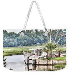Debby John Shrimp Boat Weekender Tote Bag