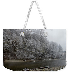 Weekender Tote Bag featuring the photograph December Morning On The River by Felicia Tica