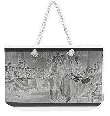Declaration Of Independence In Negative Weekender Tote Bag by Rob Hans
