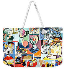 Deconstructing Picasso - Women Sad And Betrayed Weekender Tote Bag