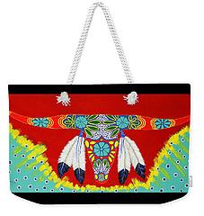 Weekender Tote Bag featuring the painting Longhorn by Debbie Chamberlin