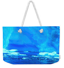 Weekender Tote Bag featuring the photograph Deep Blue Iceberg by Amanda Stadther