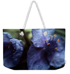 Weekender Tote Bag featuring the photograph Deep Blue by Louise Kumpf