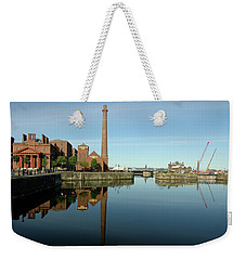 Weekender Tote Bag featuring the photograph Deep Blue Reflections by Jonah  Anderson