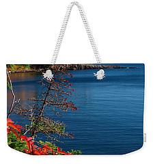 Deep Blue Superior Weekender Tote Bag by James Peterson