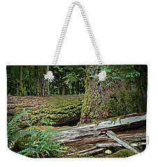 Weekender Tote Bag featuring the digital art Deep In The Forest by Richard Farrington