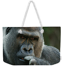 Deep In Thought Weekender Tote Bag by Judy Whitton