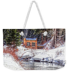 Deep Snow In Spearfish Canyon Weekender Tote Bag by Lanita Williams