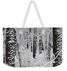 Deep Snow In The Forest Weekender Tote Bag