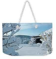 Deep Snow Orchard Weekender Tote Bag by Phil Banks