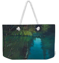 Deer Crossing Weekender Tote Bag by Rob Corsetti